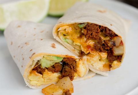 Chorizo Potato Breakfast Burrito