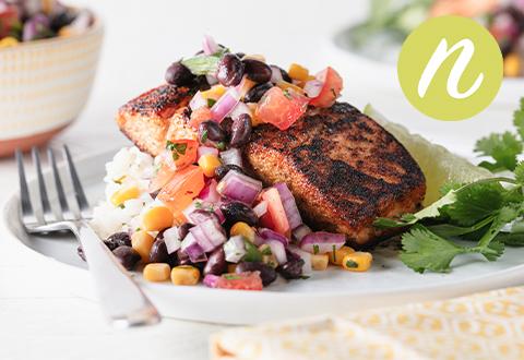 Blackened Salmon & Corn Salsa