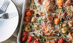 Sheet-Pan Tuscan Chicken & Veggies