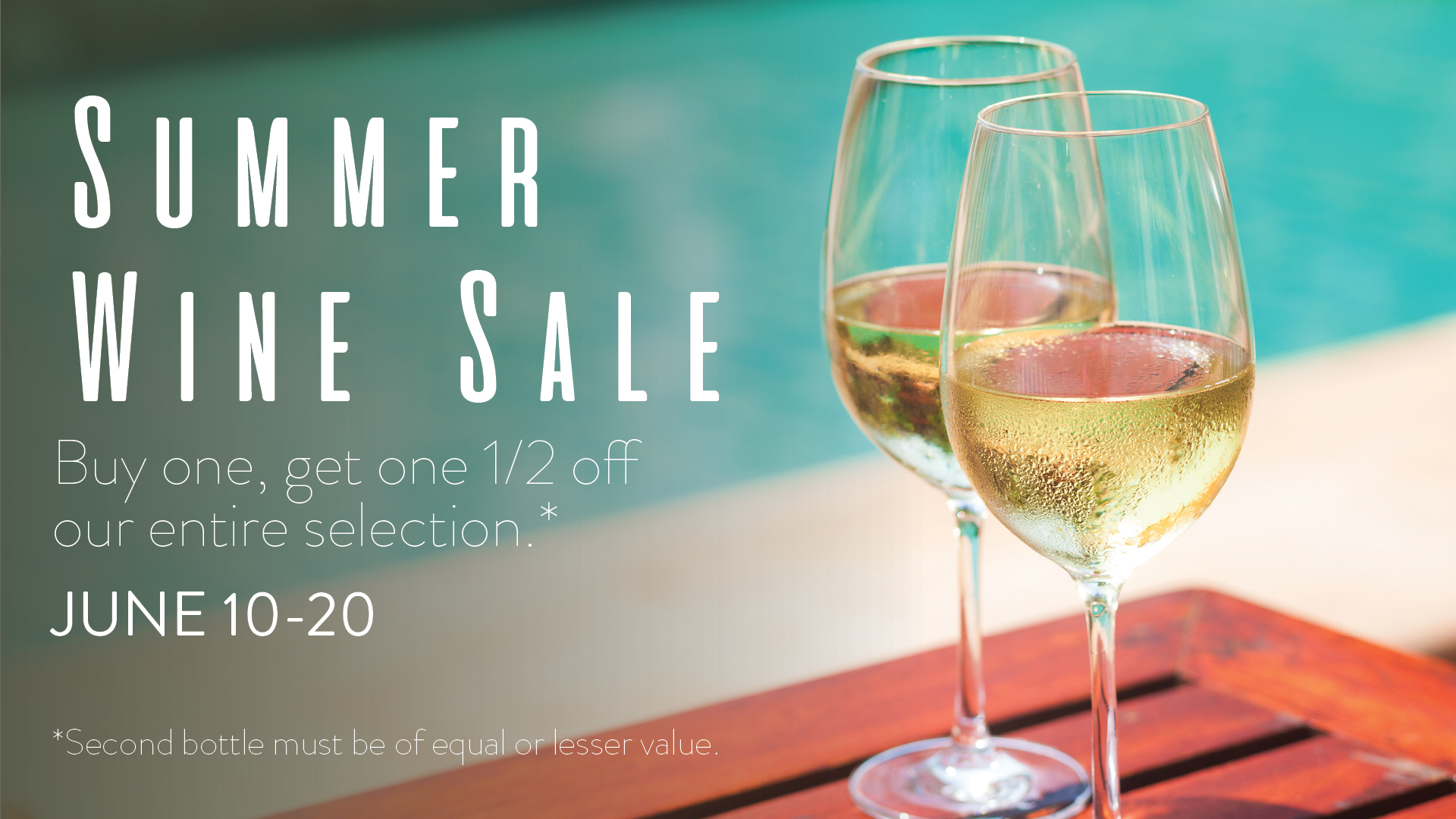 June 10 - 20: BUY ONE, GET ONE 1/2 OFF!