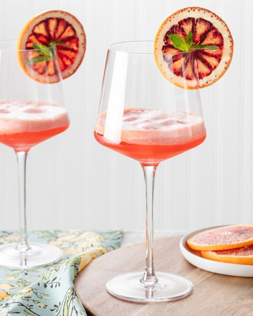 Blood Orange Sorbet Mimosa
