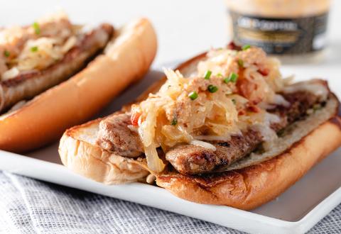 Bacon, Mustard & Sauerkraut Brats