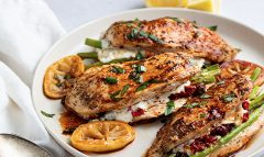 Asparagus and Sundried Tomato Stuffed Chicken